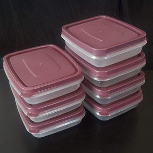 Plum/Purple Rectangle Storage Containers with Lid